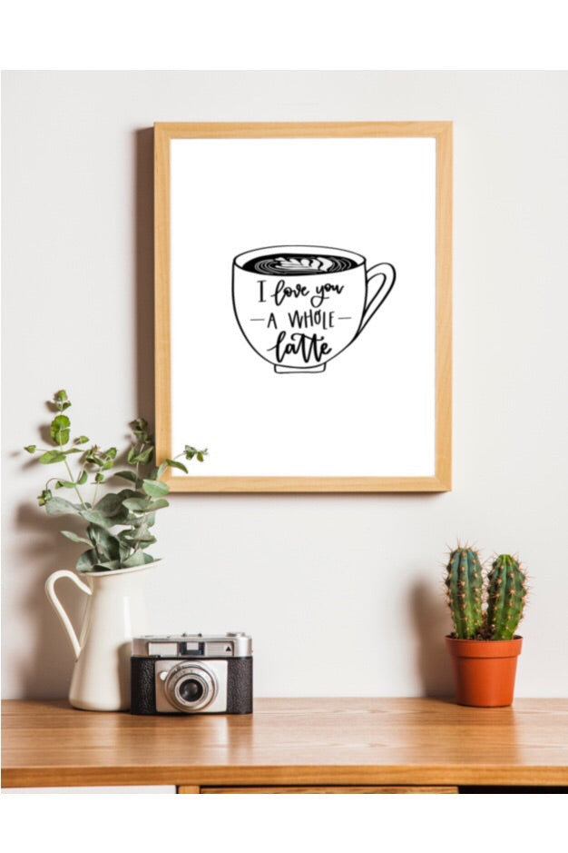 I love you a whole latte free printable