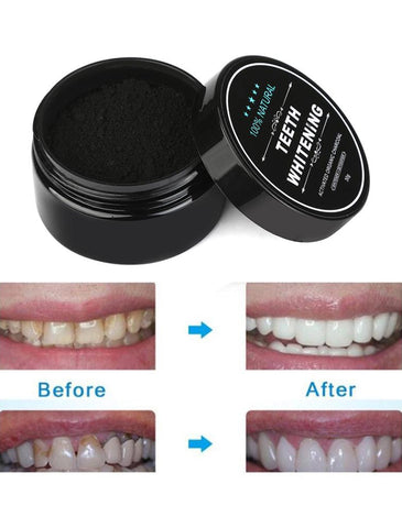 Charcoal Teeth Whitening Powder - SAVE 50% TODAY