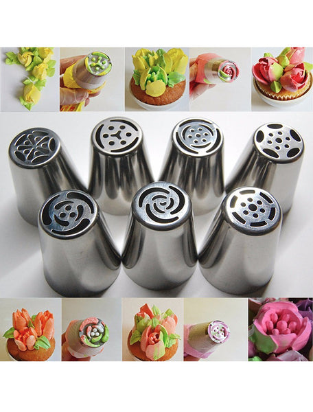 7pc Flower Icing Nozzle Set - 50% OFF TODAY