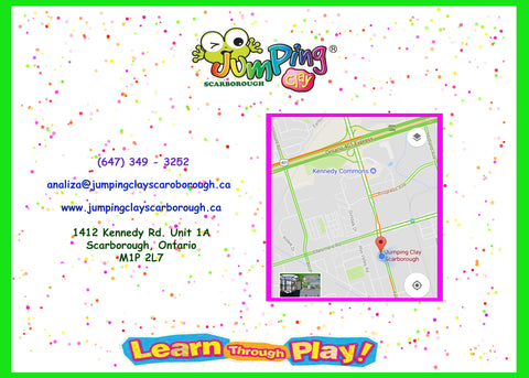 Birthday Party Invitations Jumping Clay Scarborough