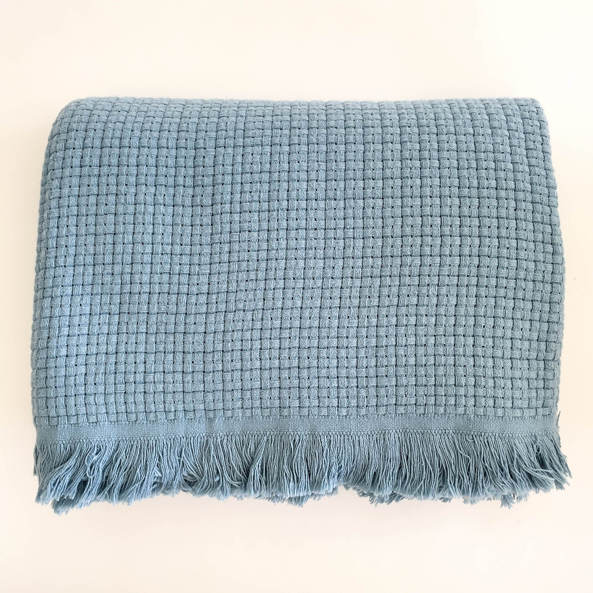 Baran Box Weave Throw Blanket - 100% Turkish Cotton