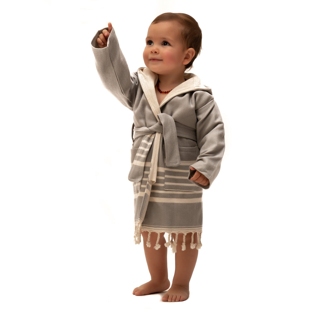SIA GRAY KIDS' ROBE