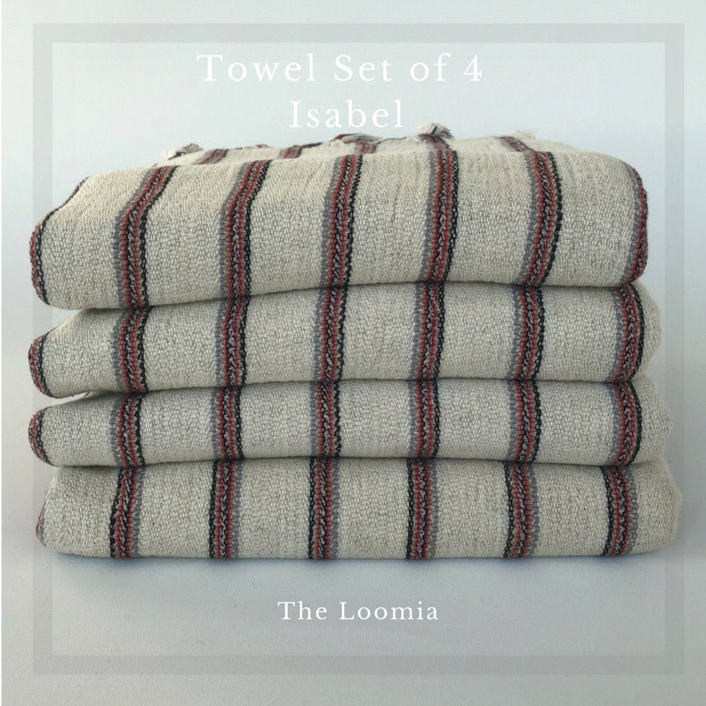 Isabel No:9 Turkish Towel Set of 4