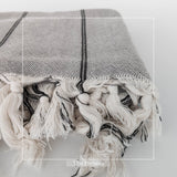 The Queen of Grey Turkish Towel No:022