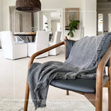 Arya Stonewashed 100 % Turkish Cotton Throw-Blanket