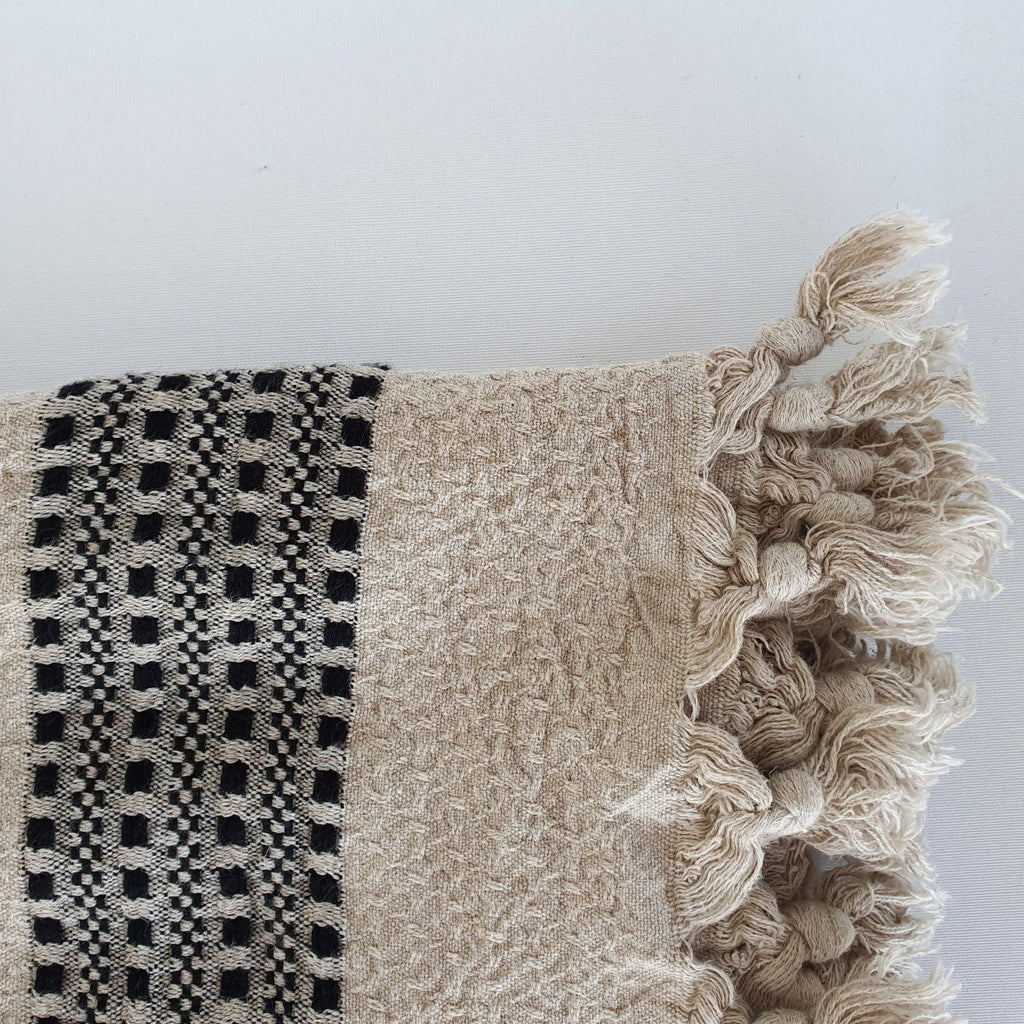 Farida Cotton and Linen Turkish Throw Blanket