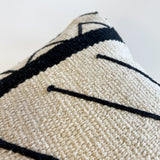 Jana Handwoven Black and Cream Pillow