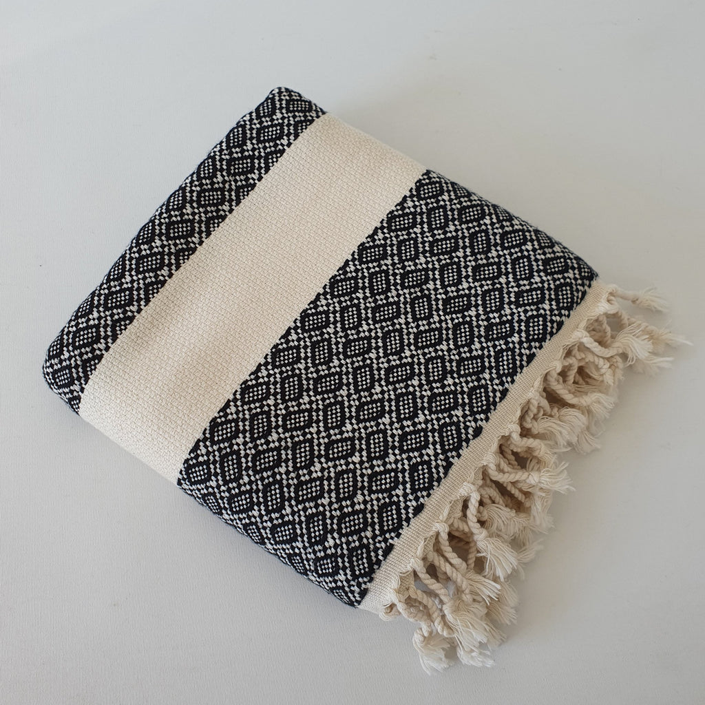 Adrian Turkish Bath and Hand Towel 2pc - Made of 100% Turkish Cotton