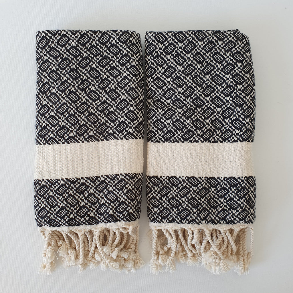 Adrian No:15 Turkish Hand Towel 2pc-Made of 100% Turkish Cotton