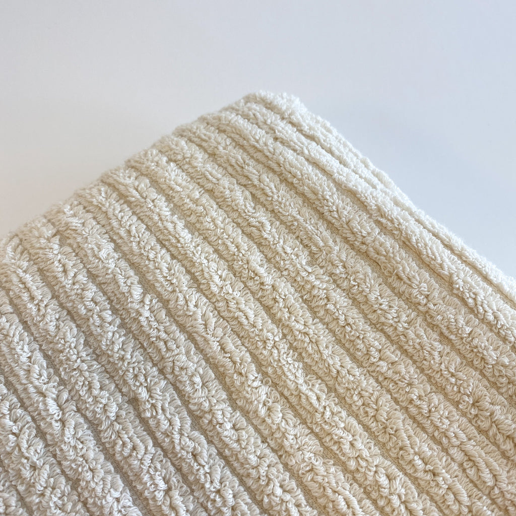Zu Off White Extra Large Handwoven Terry Towel