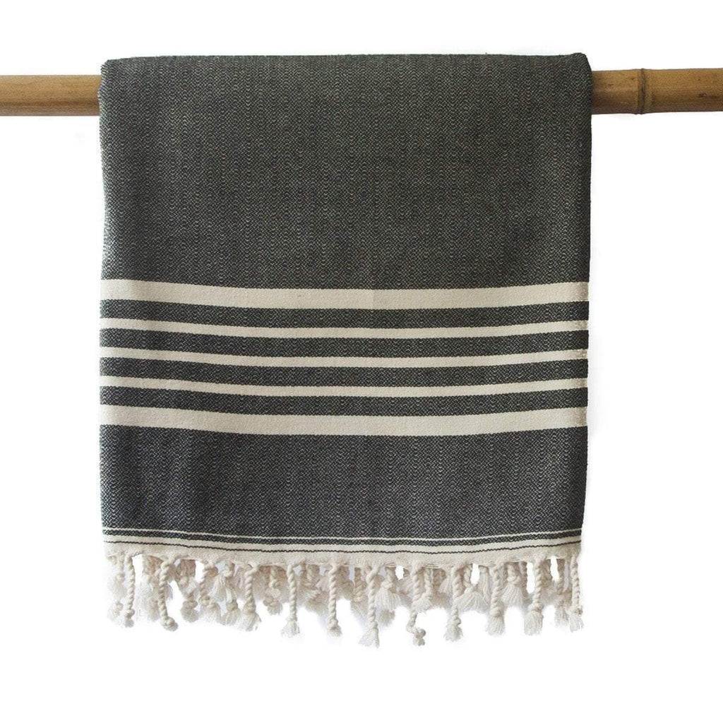 SIA Black Turkish Towel
