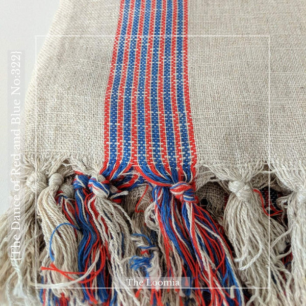 The Dance of Red & Blue No:322 Turkish Towel