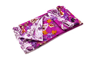 Song Jin Women's 100% Silk Square Scarf - Rose Color