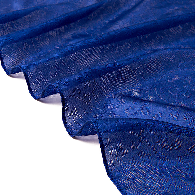 Women's 100% Silk Large Scarf - Blue