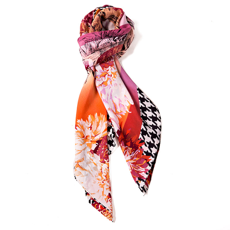Eternal Summer Women's 100% Silk Square Scarf
