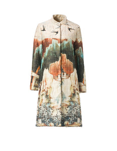 Chinese Landscape Cotton Coat