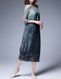 Gradient Silk Dress