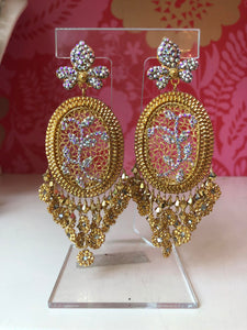 Golden Woven Earrings