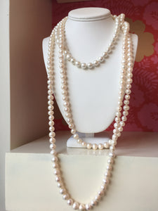 "76"" Freshwater Pearl Knotted Necklace"