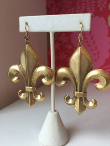 Large Fleur De Lis Earrings