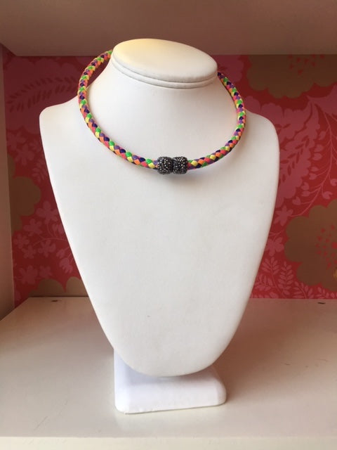 Multicolored Cord Choker