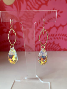 Swarvorski Crystal Teardrop Earrings