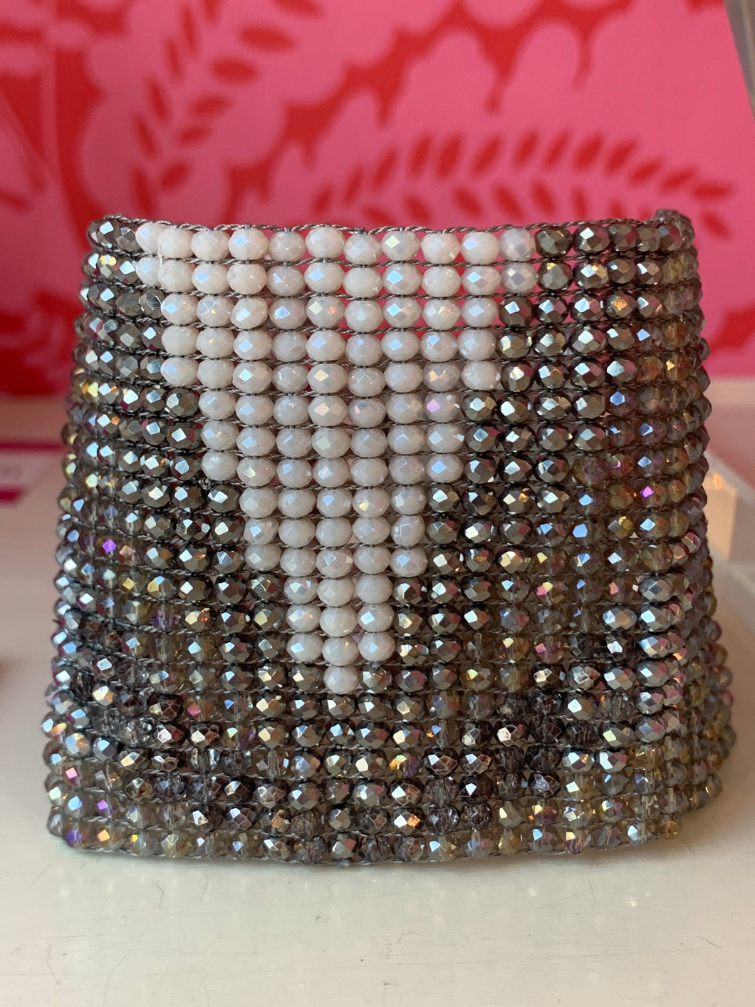 Milliana Beaded Cuff with Magnetic Closure