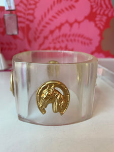 Lucite Horse/Horseshoe Bangle