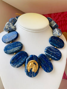 Lapis Horse Necklace