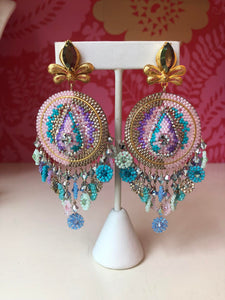 Pastel Beaded Moroccan Style Earrings