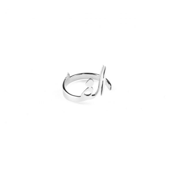 Nastaliq Letter Steel Ring