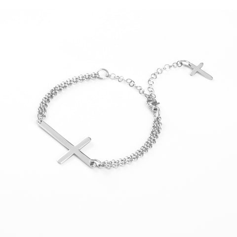 Cross Steel Bracelet
