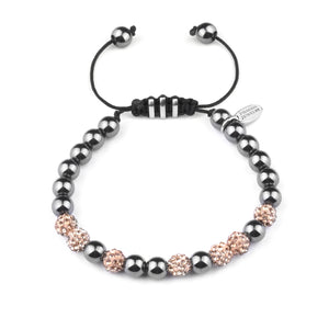 Swarovski Ball - Hematite Beaded Bracelet
