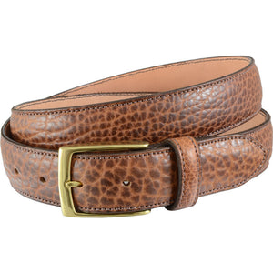 American Bision Leather Belt in Dark Carmel