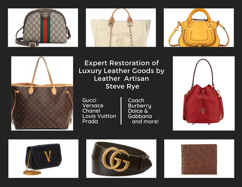 Luxury Leather Goods Restoration - Photos of handbags - prada, gucci, chanel and more.