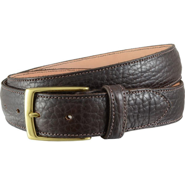 #1011 Bison Belt in Dark Brown