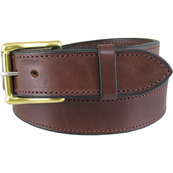 "Heavy Duty Work Belt 1 1/2"" Wide Cognac"