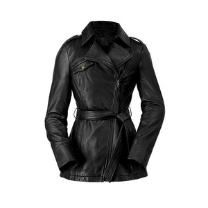 Women's Leather Trench #1087