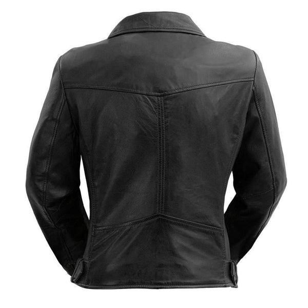 Women's Leather Jacket #1384 Back View