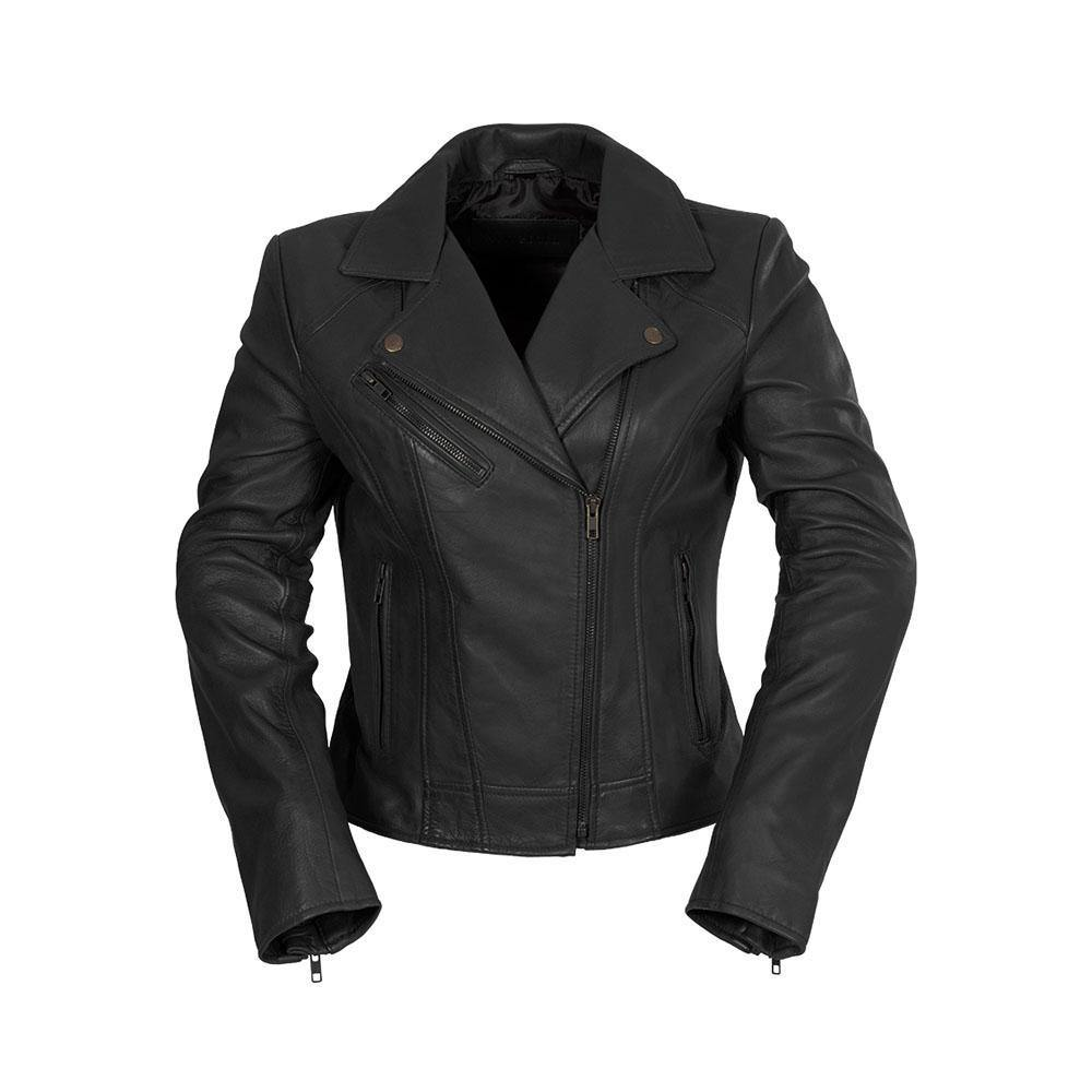 Ladies Leather Jacket Black