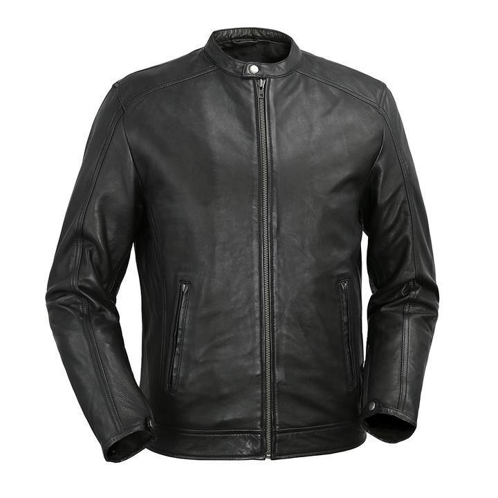 Men's Tab collar Jacket in Black