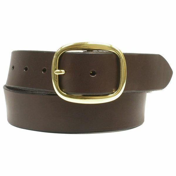 "1 1/4"" Leather Belt Chocolate"