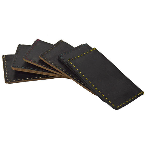 Two Pocket Card Case - Black