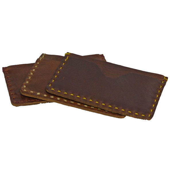 Two Pocket Card Case - Brown