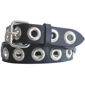 Grommet Studded Belt Black/Chrome