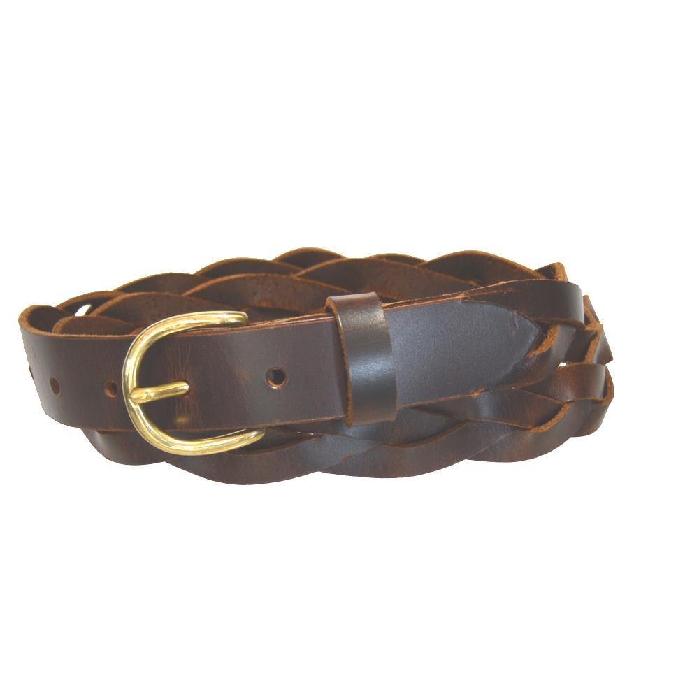 Ladies' 3-Braid Belt Rich Brown
