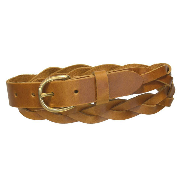 Ladies' 3-Braid Belt Golden Tan