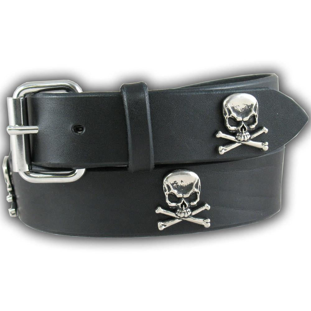 Skull & Crossbones Belt - Black