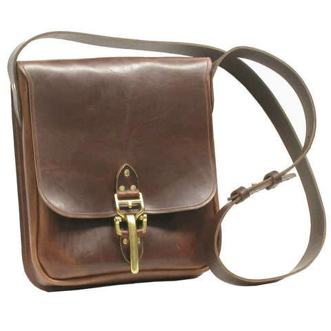 Derek Leather Shoulder Bag Rich Brown