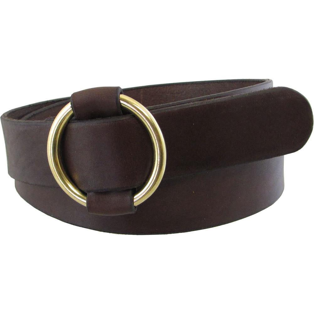 "1 1/2"" Single Ring Cinch Belt Dark Brown"